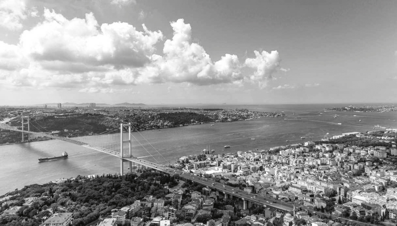 Istanbul, view of the Bosporus